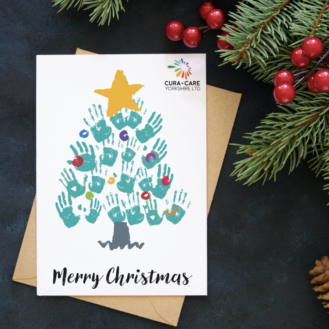 Christmas tree hand print